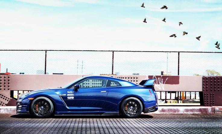 Blue 2012 GTR 35