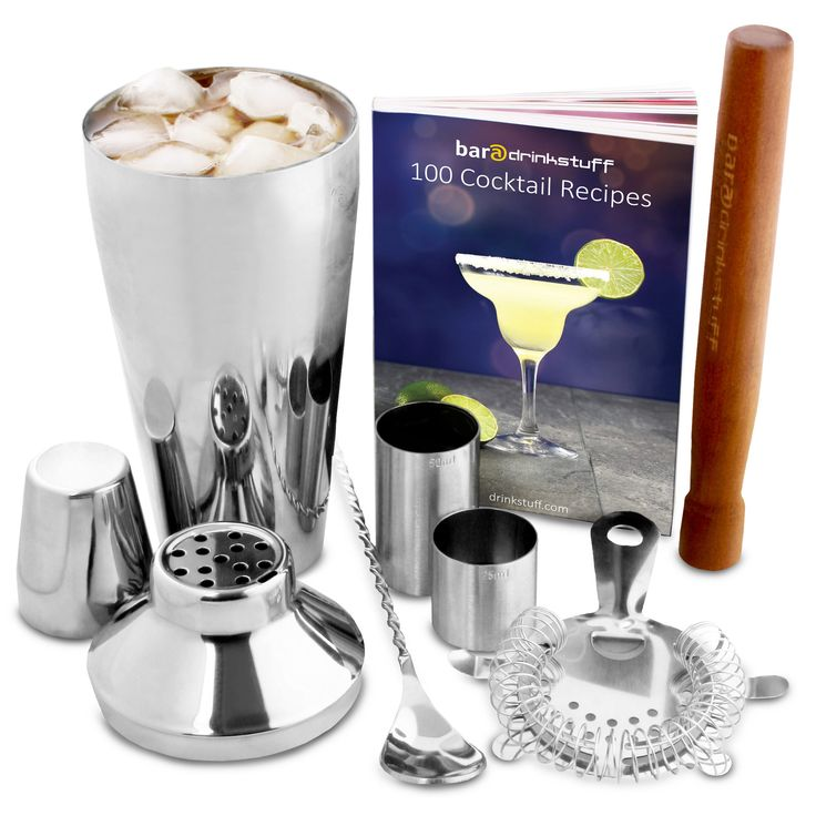 This beginners cocktail features a classic cocktail shaker and cocktail making accessories all in a gift packaging, for a perfect cocktail mixing gift set.