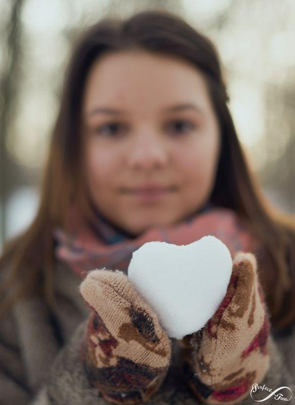 Winter Portrait Love Heart