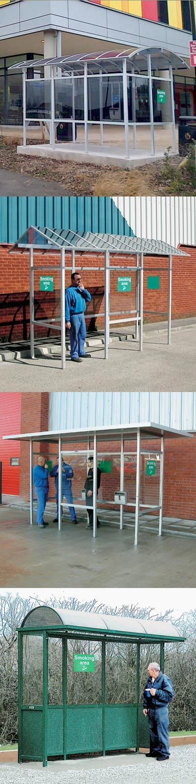 Carleton 50 Smoking / E-cigarette Shelters can be supplied with curved, pitched or flat roofs, or as a cantilever-style shelter. #Shelter #SmokingShelter #GlasdonUK #EcigaretteShelter