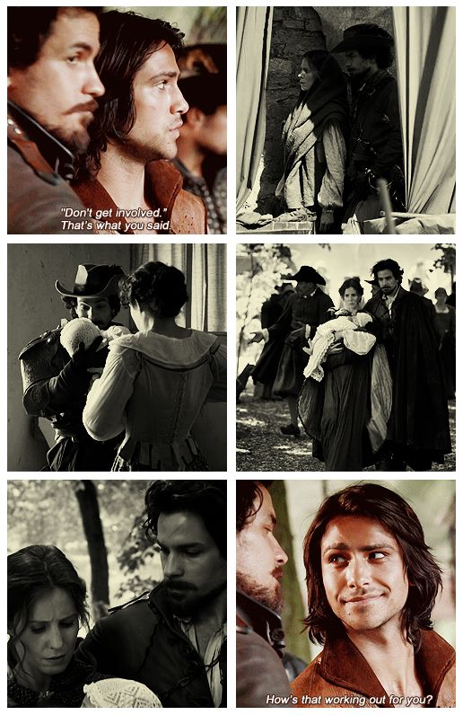 The Musketeers - 1x06 - The Exiles (I was waiting for this gif set the moment D'Artagnan spoke that last line to Aramis lol)