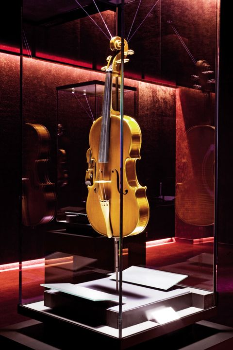 An original Stradivari such as this one is estimated at 13 million dollar in average. Photo © MDV l Right in the heart of strings - News  Stories at STYLEPARK, Cremona Museum