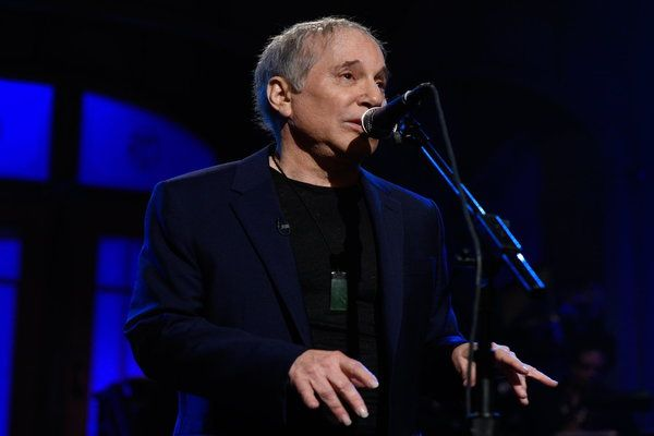 "Watching SNL 40: Paul Simon performs w/SNL Band ""Still Crazy After All These Years."""