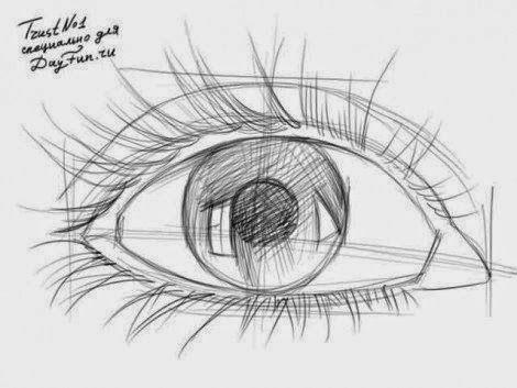 طريقة رسم العين بقلم رصاص للمبتدئين Dz Fashion Eye Drawing Eye Drawing Tutorials Face Drawing