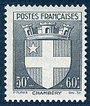 Armoiries de Chambéry Armoiries des villes de France (Deuxième série) - Timbre de 1942