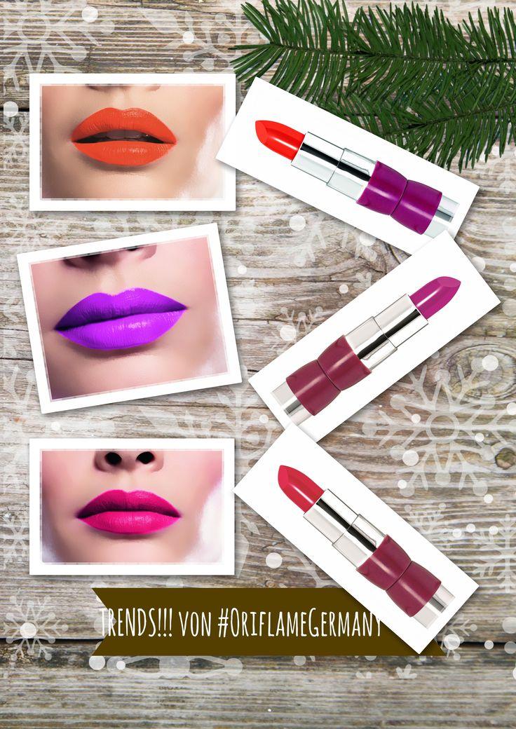❄❄❄Winter Beauty Trend❄❄❄ Matte Lippen statt Glanz, oder noch raffinierter - Semi Matt Neon von The ONE!!! ❄http://www.oriflame.wa-wi.net/shop.php?lang=de&cms_nav_id=273 ❄❄❄#SemiMatt #Trends #LippenMakeUp #OriflameGermany❄❄❄