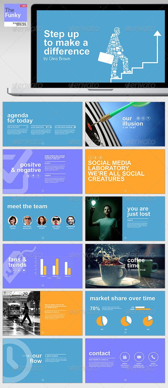 56 best presentation design inspiration images on pinterest page thefunky powerpoint template toneelgroepblik Image collections