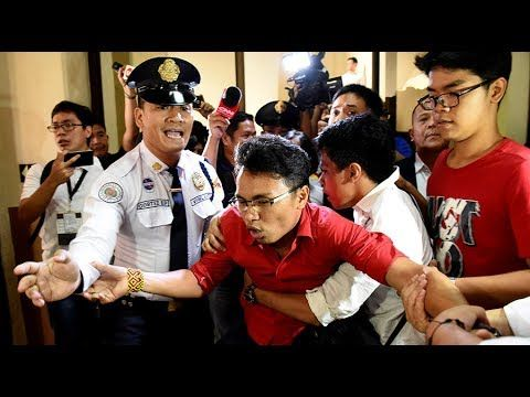 NEWS: Protesters storm Philippines Congress as martial law extended unti...