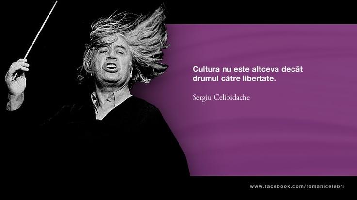 Cultura nu este altceva decat drumul catre libertate. -- Sergiu Celibidache