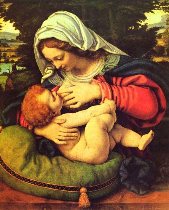 Virgin Mary print Catholic prints POSTER Virgin by TanabeStudio