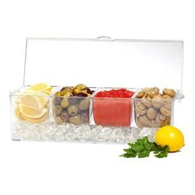 Chill It 4 Section Condiment Tray