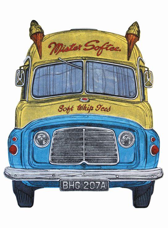 Barry Goodman | Mr Softie | #art | #summer | #icecreamvan | #print | £395