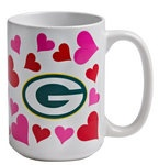 Green Bay Packers Valentines Mug at the Packers Pro Shop $9.95 ~ I want this