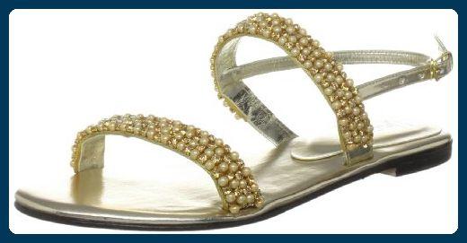 Unze Evening Sandals, Damen Sandalen, Gold (L18300W) EU 38 - Sandalen für frauen (*Partner-Link)