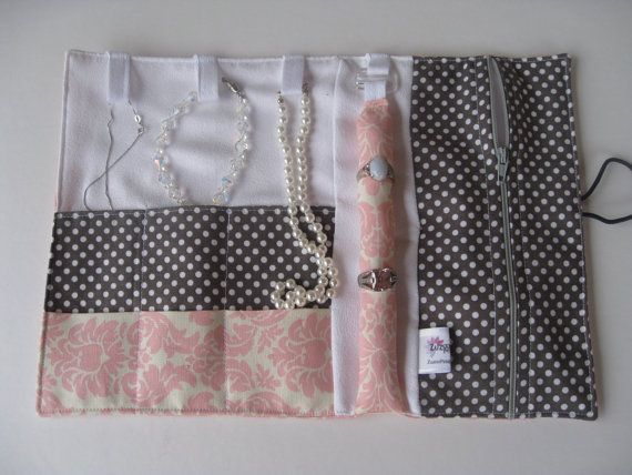 Feeling French Classic Jewelry Roll - Ready to Ship - Great for Valentine's Day