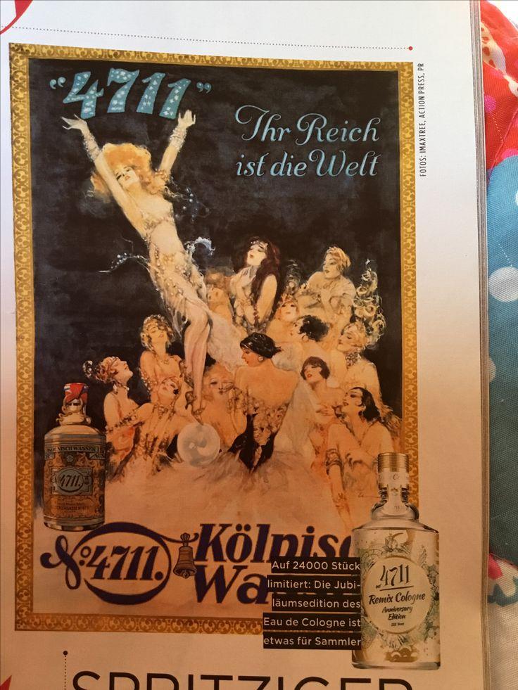 225 jaar 'oud' is de beroemde eau de cologne van 4711 dit jaar maar liefst. Het werd tijd voor een re-styling van het 'Kölnisches Wasser'. Zie rechts de nieuwe fles èn geur.