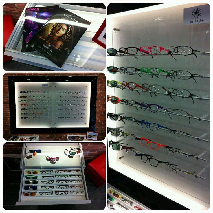 Creative trunk show display featuring Parasite Eyewear in Montreuil, Paris