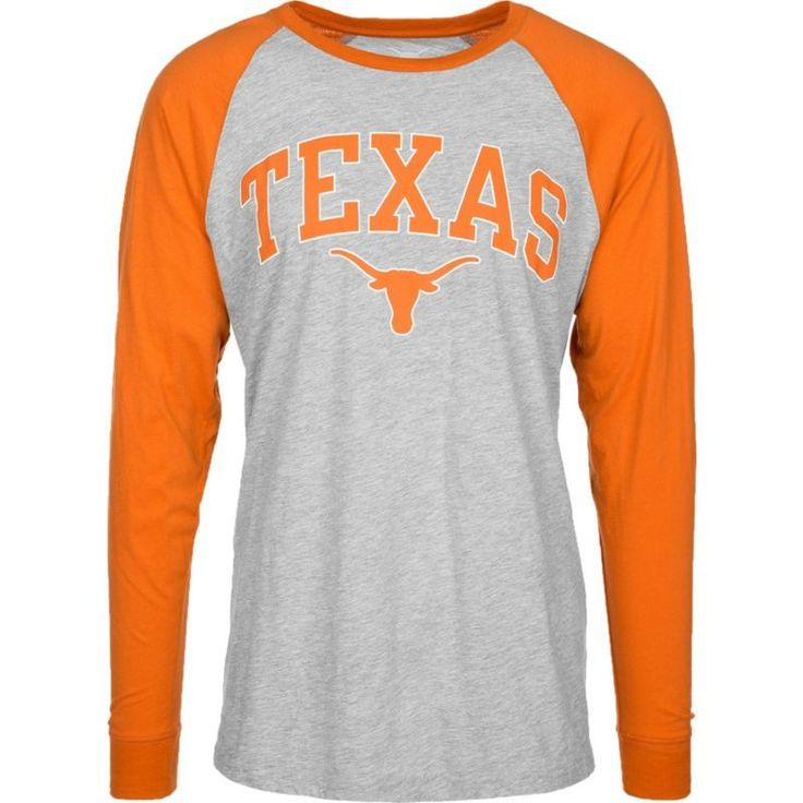 University of Texas Authentic Apparel Men's Texas Longhorns Grey/Burnt Orange Byron Long Sleeve Shirt