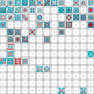 Stitchy Quilt Stuff: Modern Dear Jane Quilt, Week 11..... 3 Colors only.  Love it!