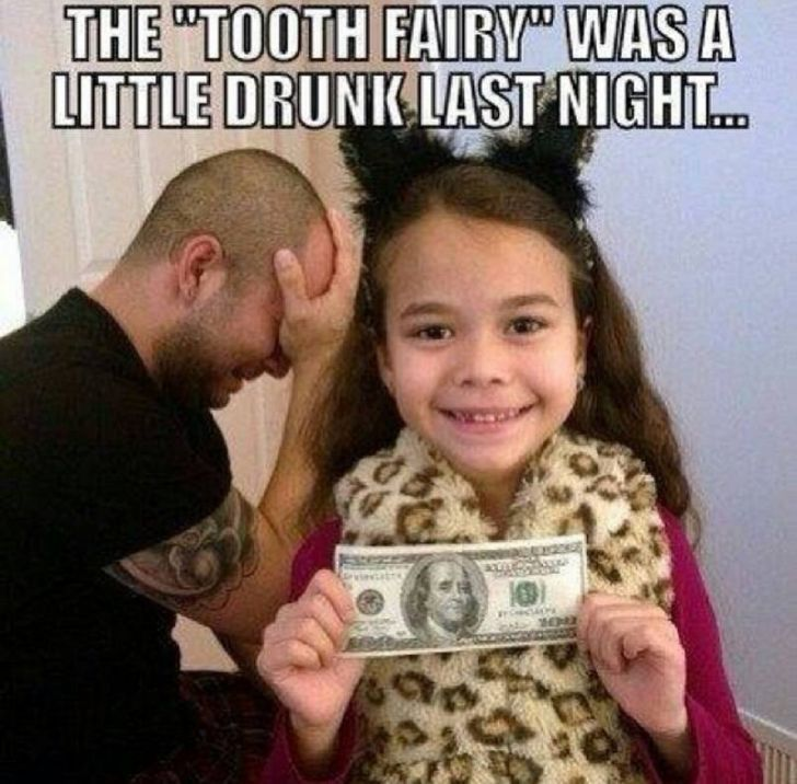 Whoops! Someone's #tooth was worth a little something extra, huh... #parenting #humor