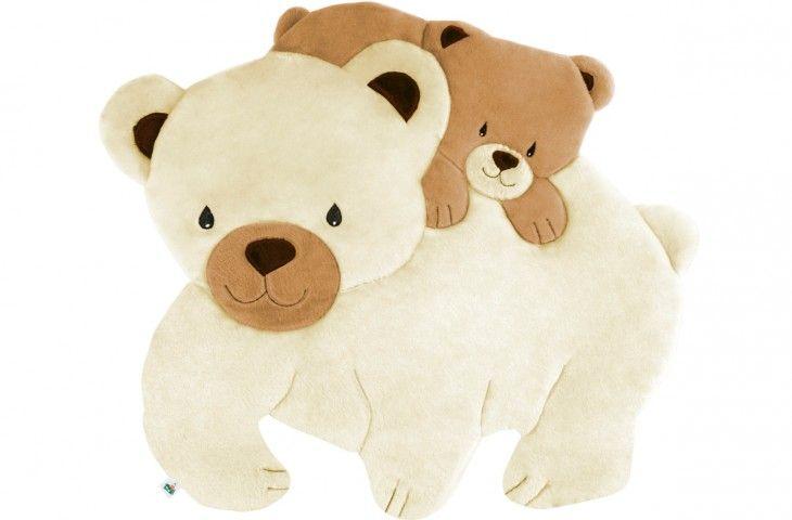 Tapete Infantil Pelúcia Gigante Urso com Filhote, Tapetes Mágicos - Valle Enxovais e Tapetes