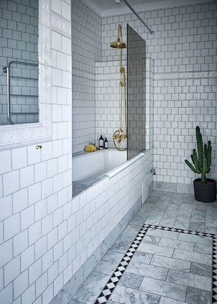 Gråa nyanser i perfekt harmoni och ett badrum att drömma om? Ja det beskriver denna ljuvliga etagelägenhet på Östermalm. Många tidlösa designklassiker finns re