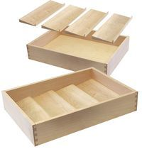 Spice Rack Drawer and Insert - also on page - good idea - double stack, rolling cutlery trays