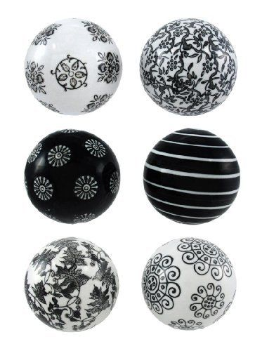 Black And White Decorative Ceramic Balls Glamorous 10 Best Table Decor Images On Pinterest  Balls Christmas Crafts Review