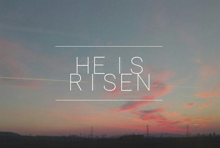 He is risen #font #caption #christian #Jesus #risen