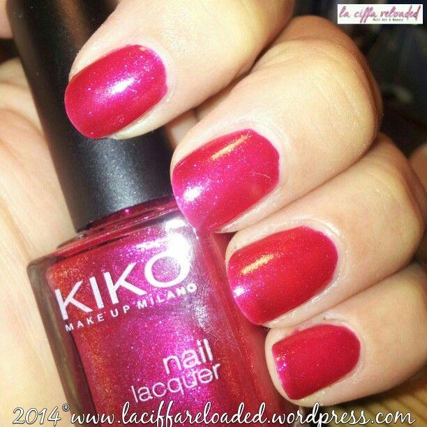 Kiko Nail Lacquer Col. 277 Mirtillo Glitter