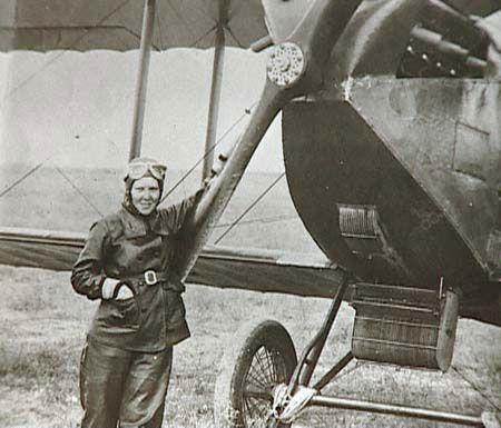 Sabiha Gokcen (Sabiha Gökçen) - The world's first female fighter pilot, and the first Turkish female combat pilot, aged 23. (b. 1913)