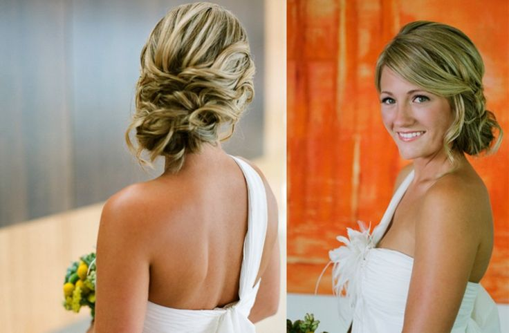 sideswept braided wedding hairstyle