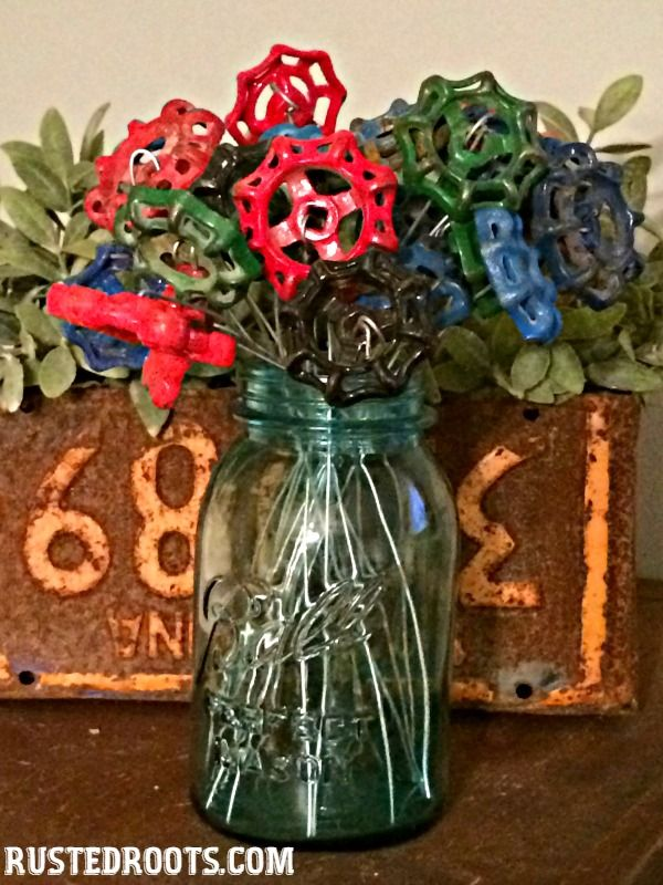 Water Spigot Flowers at RustedRoots.com #RustedRoots