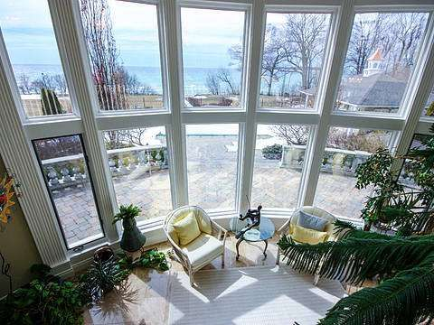 "On the shores of Lake Ontario, Prince Edward County. ""The Suncatcher"", this classically elegant jewel of over 7,000 Sq Ft of finished living space nestled on 3.5 majestic acres, affording all the comforts of sophisticated living. #luxury #room #view"