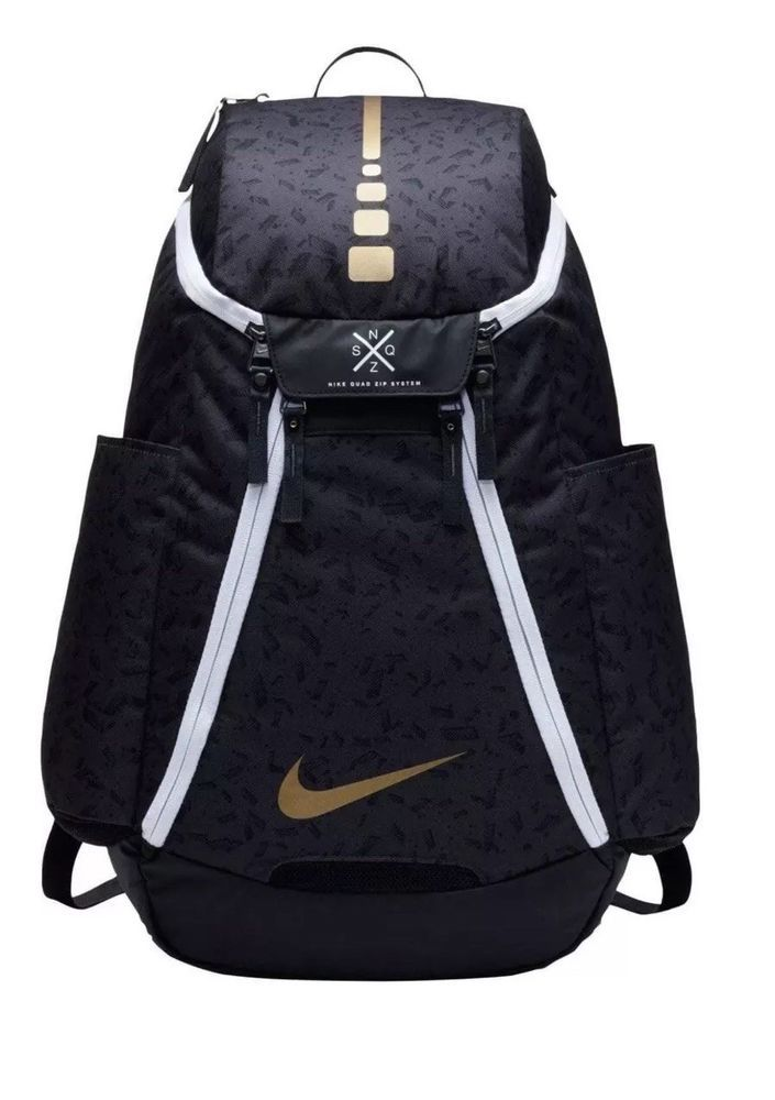 ca3b1a0a678 NIKE HOOPS ELITE MAX AIR TEAM 2.0 BACKPACK BLACK GOLD BA5260-011 ADULT $90  MSRP #Nike #Backpack