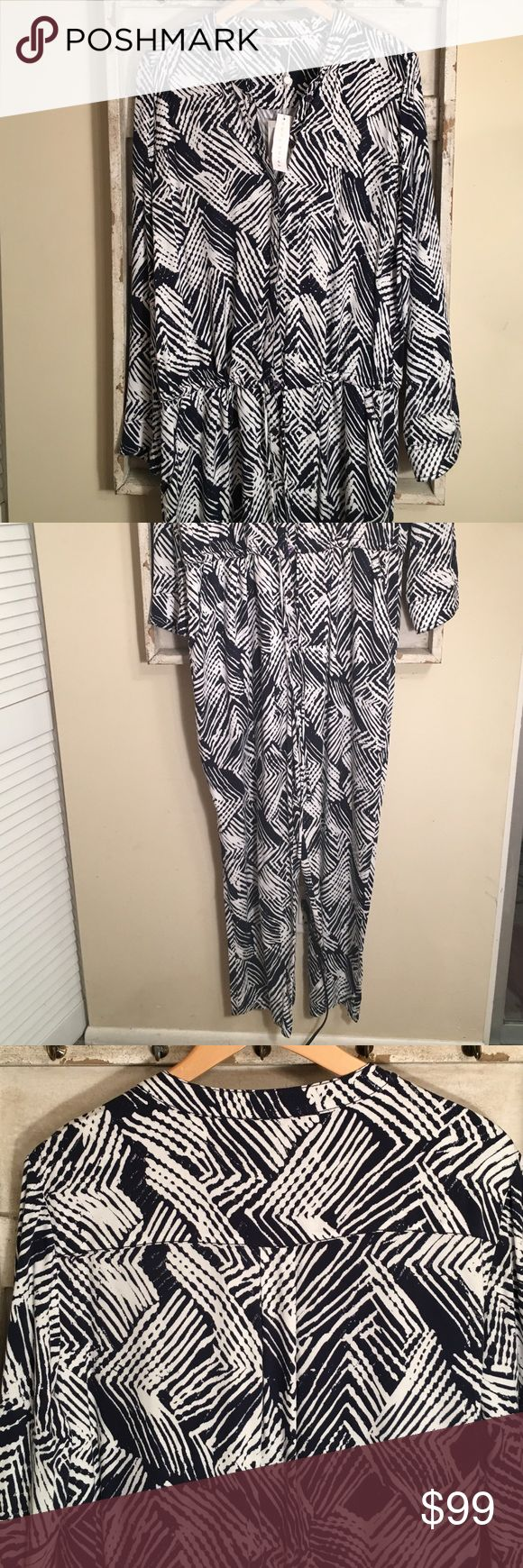 Trina Turk jumpsuit NWT Drawstring waist....side pockets...tags are on this item but the price is missing Trina Turk Pants Jumpsuits & Rompers