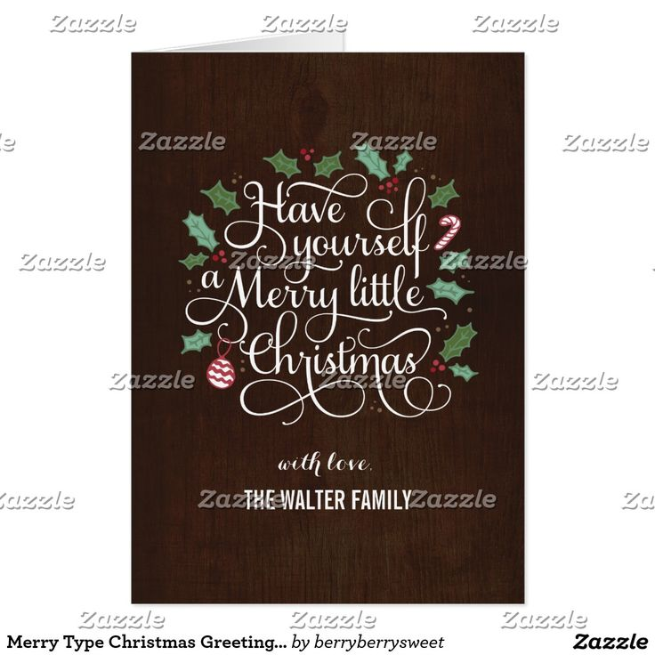 Merry Type Christmas Greeting Card