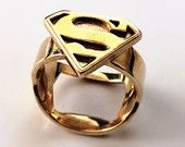 Superman Ring - Silver, Gold or Brass