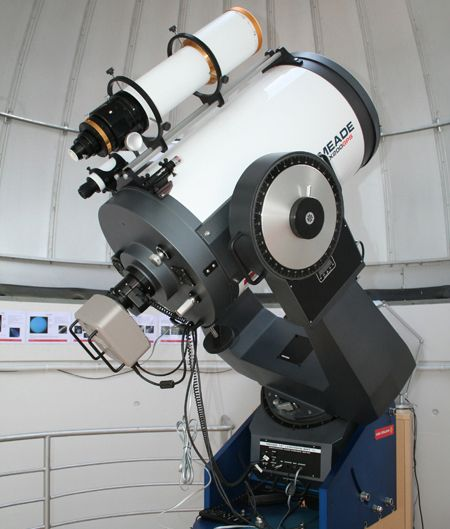 Meade 16 inch SCT telescope with CCD camera attached