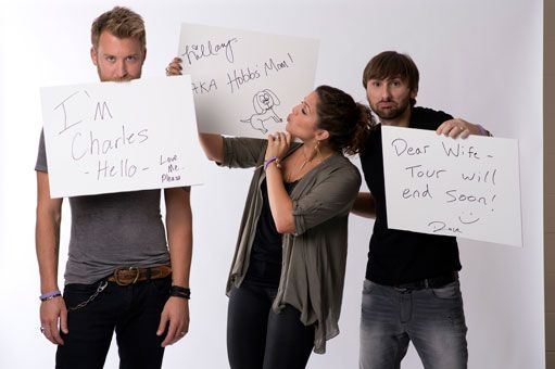 "The hardworking members of Lady Antebellum, Charles Kelley, left, Hillary Scott and David Haywood, each sent out a message but none more personal than newlywed Haywood's to his wife that the group's tour ""will end soon."""