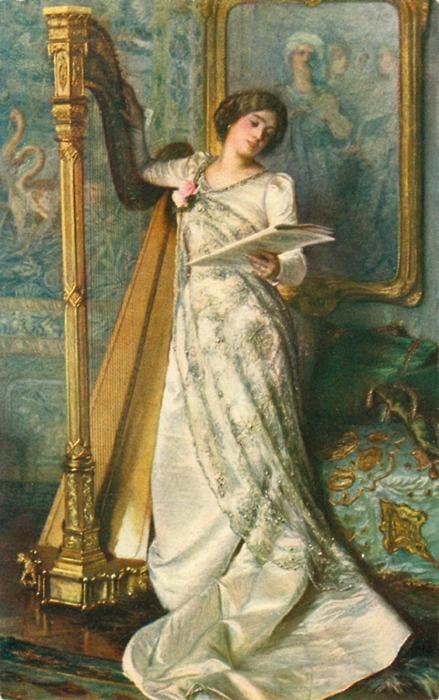 Harp Audition, by Moritz von Schwind, ca. 1855-1855