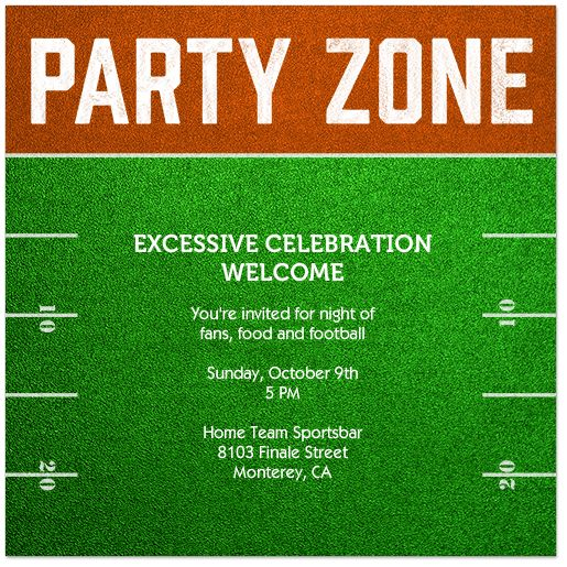 Fun Invites for your game day party from postmark.com!