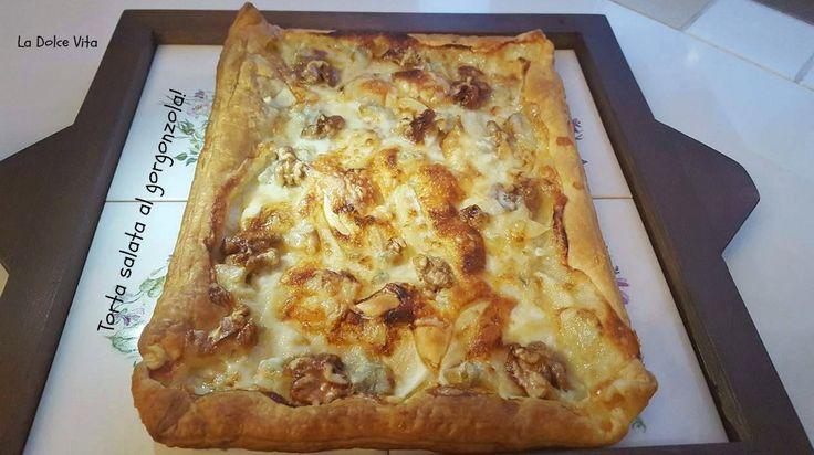 Torta salata al #gorgonzola con #pere e #noci!