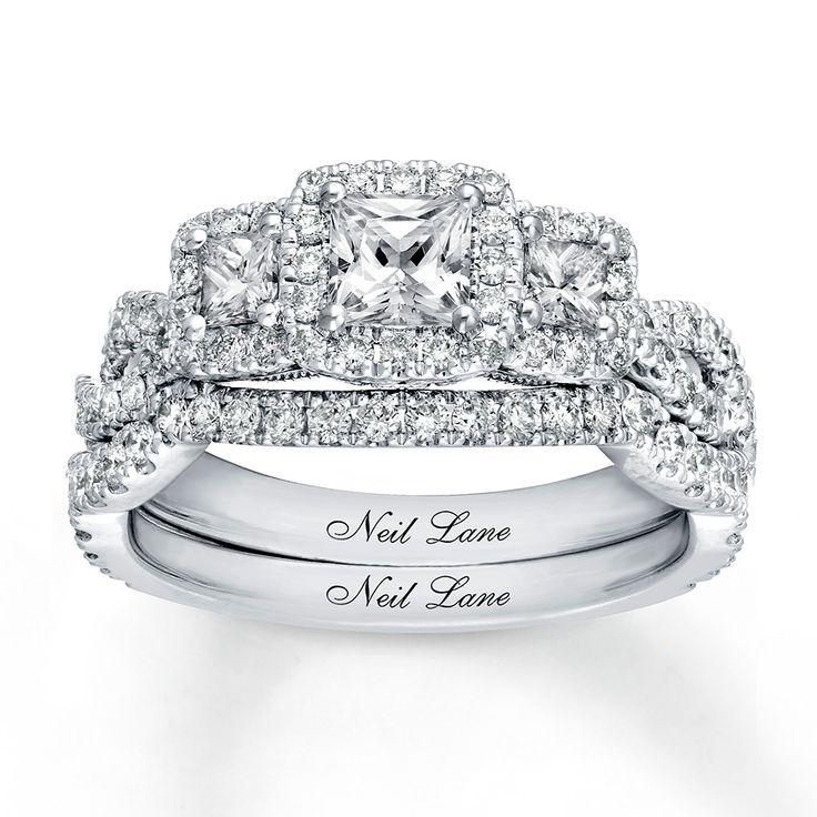 Neil lane diamond bridal set 138 ct tw 14k white gold