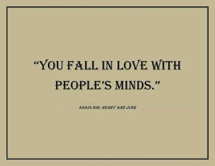 "Hugo to Anais in the movie ""Henry and June"" regarding Henry Miller"