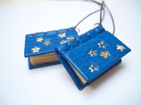 Miniature book pendant