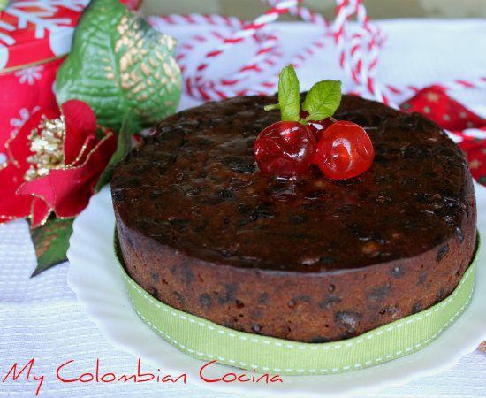 Torta de Navidad con Frutos Secos Colombia, cocina, receta, recipe, colombian, comida.