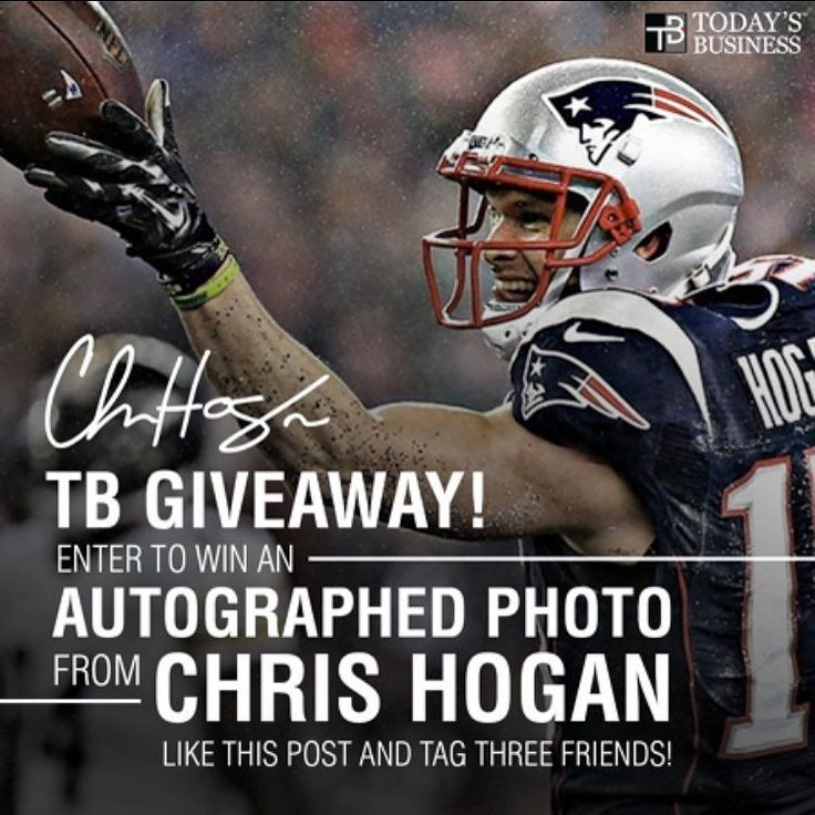 Win an autographed photo from Super Bowl Champion @chrishogan_15 of the @patriots! TO ENTER: - 1. Follow @todaysathletes 2. Like this photo and tag THREE friends. 3. Go to @todays_business and perform the SAME actions!