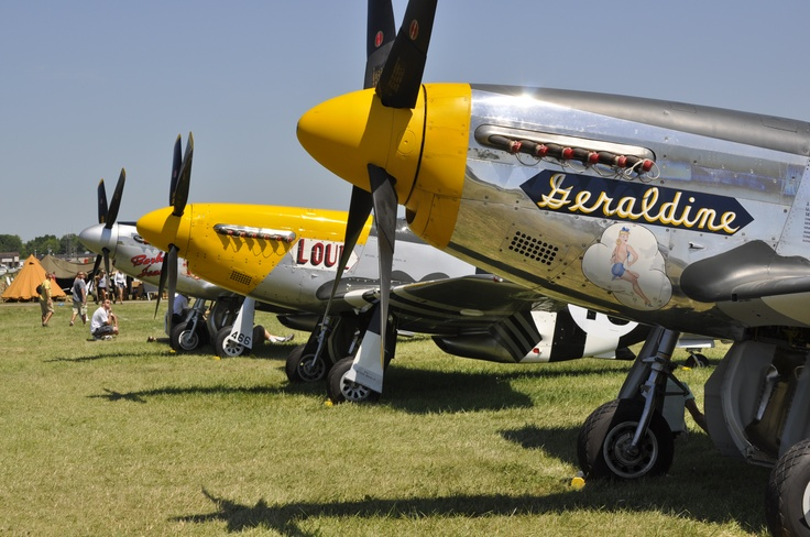 P-51 Row. I love this airplane. Best aircraft in the European theater of War. The F4U was the best in the Asian theater.
