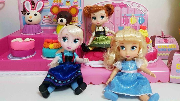 Disney Princess baby doll and play doh cakeshop & 디즈니 베이비돌 플레이도우 케이크 샵